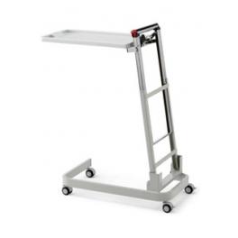 Mesa Lateral para Comer derecha con ruedas, bandeja extraíble abatible giratoria y extensible
